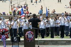 Huntington Beach High School Band at Memorial Day Ceremony